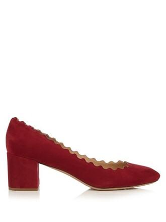 suede pumps pumps suede red shoes