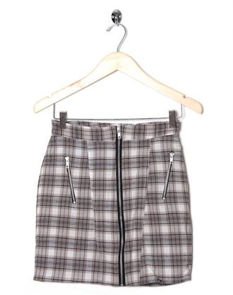 skirt checkered biker skirt zip vintage 90s style