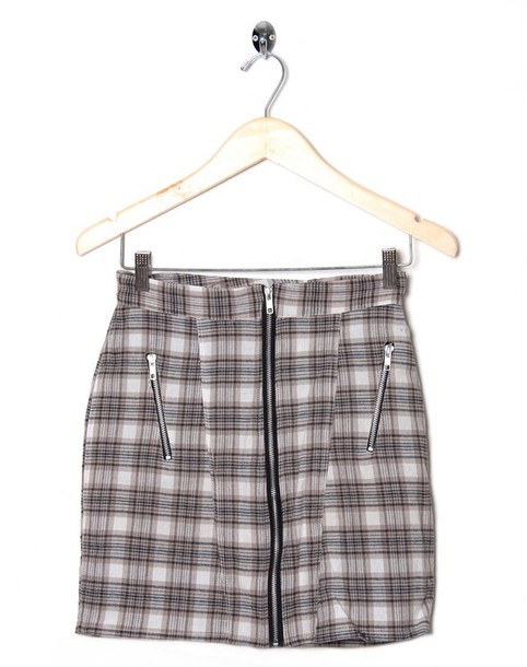 skirt checkered biker skirt zip vintage 90s style