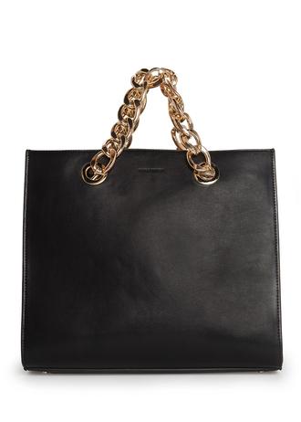 bag mango beautiful bags makeup bag gold chain chain tote bag black bag celine black bag