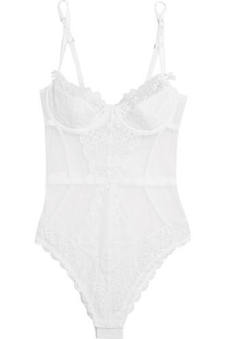 bodysuit lace white underwear