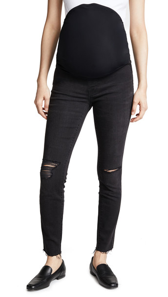Madewell Maternity Skinny Jeans in black