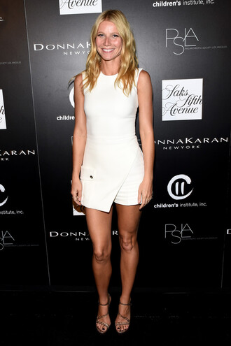 dress gwyneth paltrow white white dress
