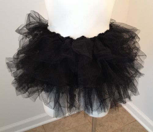 Juniors Black Tulle Ballet Dance Costume Theater Tutu Skirt Size 0 9 | eBay