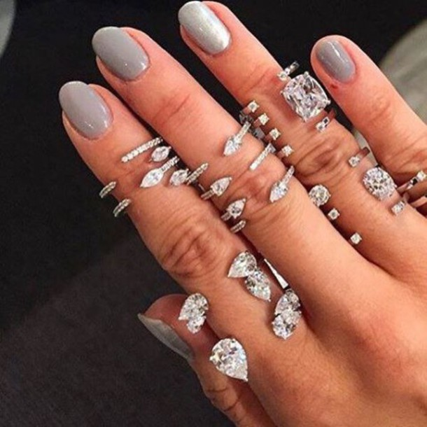Jewels Body Kandy Couture Mid Finger Ring Knuckle Ring Silver