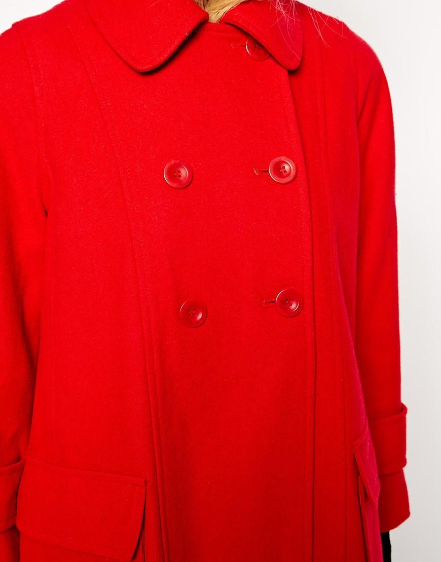 Asos swing coat with seam detail at asos.com