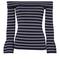 Kelly off shoulder striped knit top