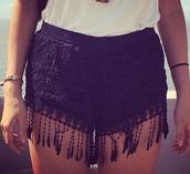 shorts,black,black shorts,fashion short,short style,short,short shorts,lace shorts