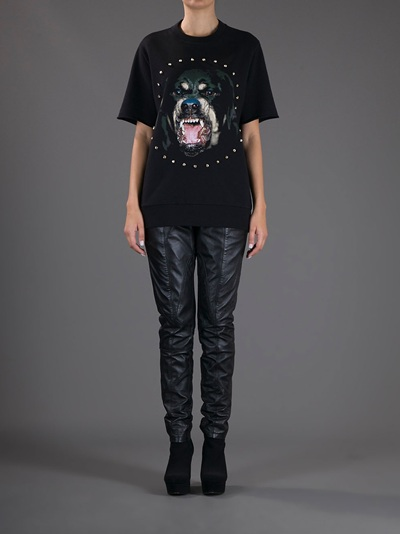 Givenchy Dog Print T-shirt -  - Farfetch.com