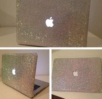 jewels computer case phone cover macbook macbook pro glitter diamonds
