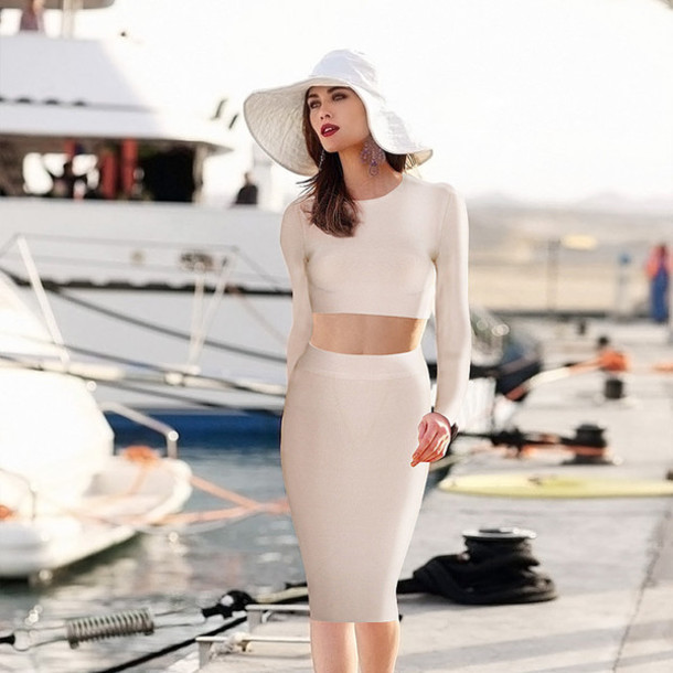 sexy dress celebrity style bandage dress clubwear two-piece bodycon dress bodycon dress clubwear dress