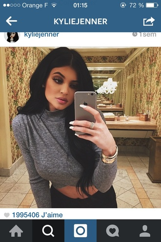 shirt kylie jenner grey kardashians jewels