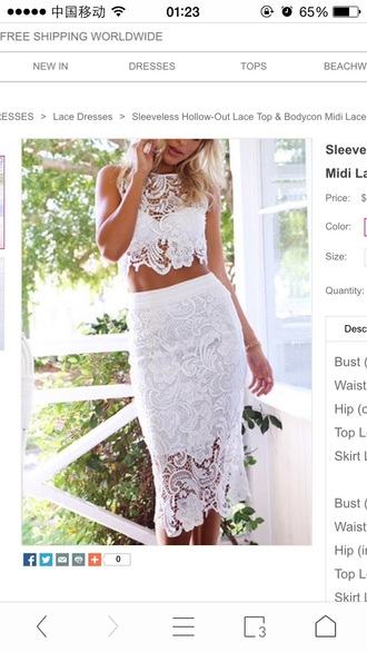 dress white lace lace dress