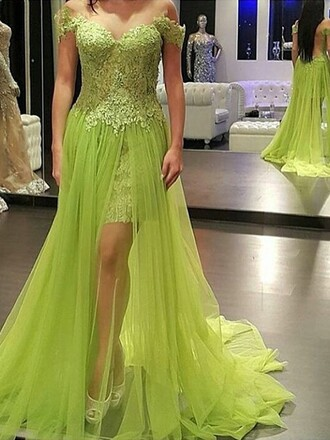 dress green fashion style prom gown elegant formal dressofgirl