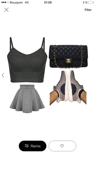 shirt skirt skater skirt grey skirt wool woolen skirt wool skirt grey skater skirt fashion
