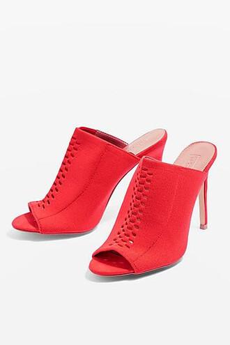 mules orange shoes