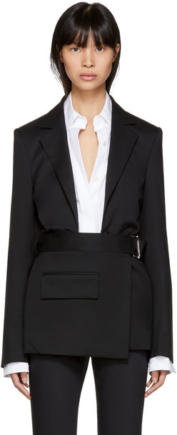 Helmut Lang blazer open black jacket