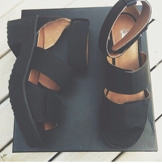 shoes black grudge shoes tumblr platform platform shoes cute platforms black platforms unif