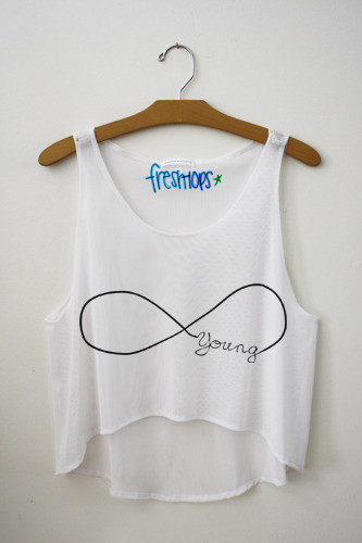 Young (forever) crop top