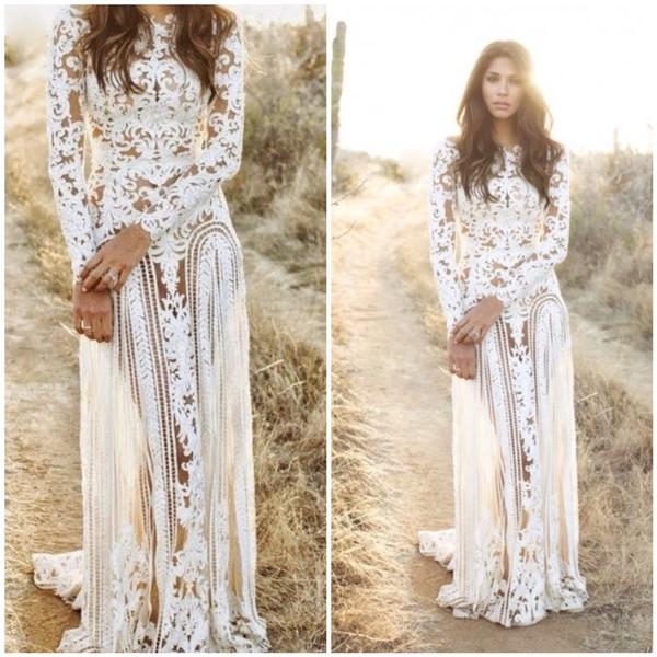 Ambria Crochet Laces Cover Up Maxi Dress Glamzelle