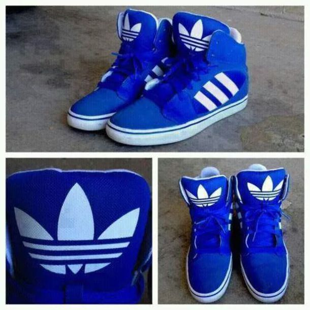 Royal Blue Adidas Shoes