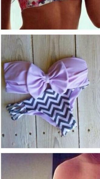 swimwear purple swimwear tribal pattern