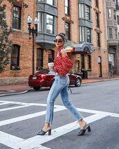 jeans,pants,shoes,mules,shirt,top,sunglasses