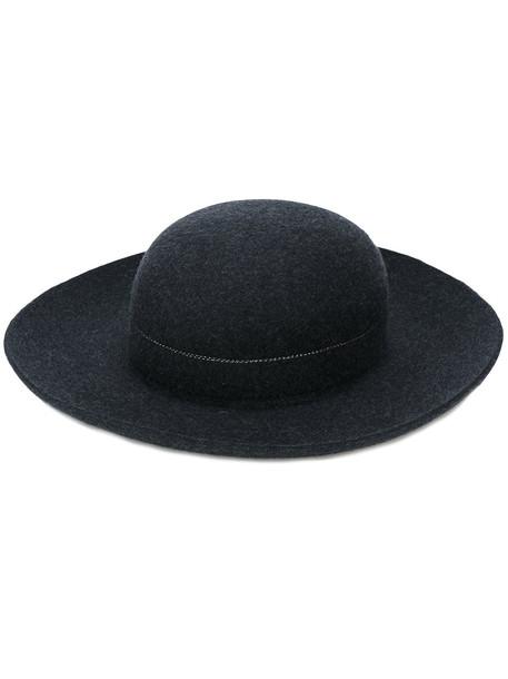 hat felt hat black
