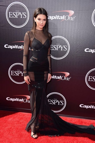 dress kendall jenner espy awards sandals