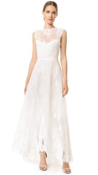 dress cameo white silk