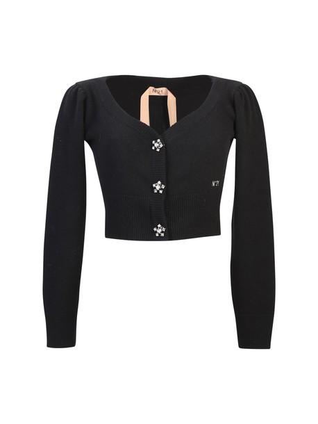 N.21 cardigan cardigan wool black sweater