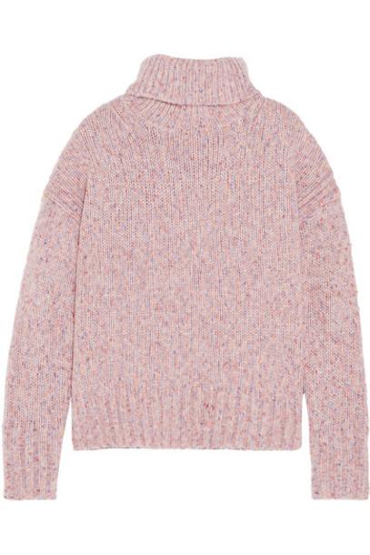 J.Crew sweater turtleneck turtleneck sweater blush
