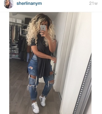jeans fashion ripped