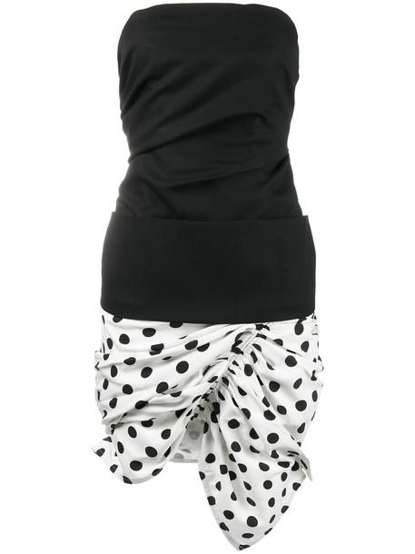 Jacquemus dress strapless dress strapless women cotton black