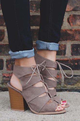 shoes booties sandals high heels beige