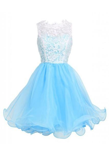 dress, light blue prom dress, illusion necklne prom dress