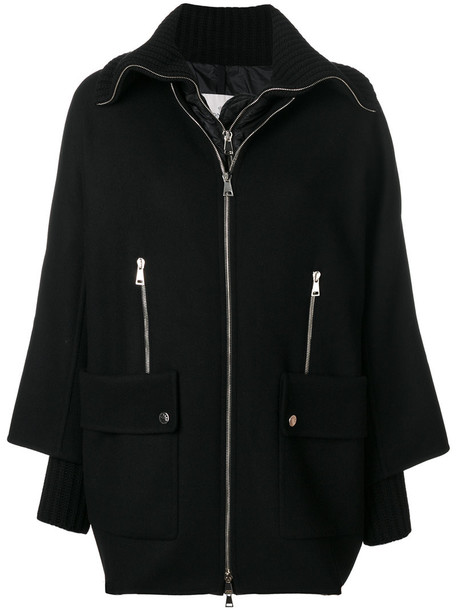 moncler coat women black wool