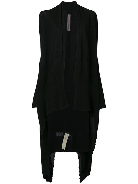 Rick Owens cardigan cardigan long women cotton black sweater