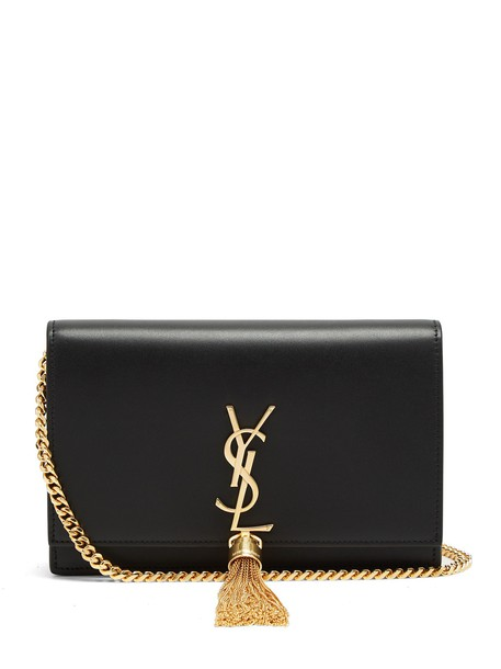 Saint Laurent cross bag leather black