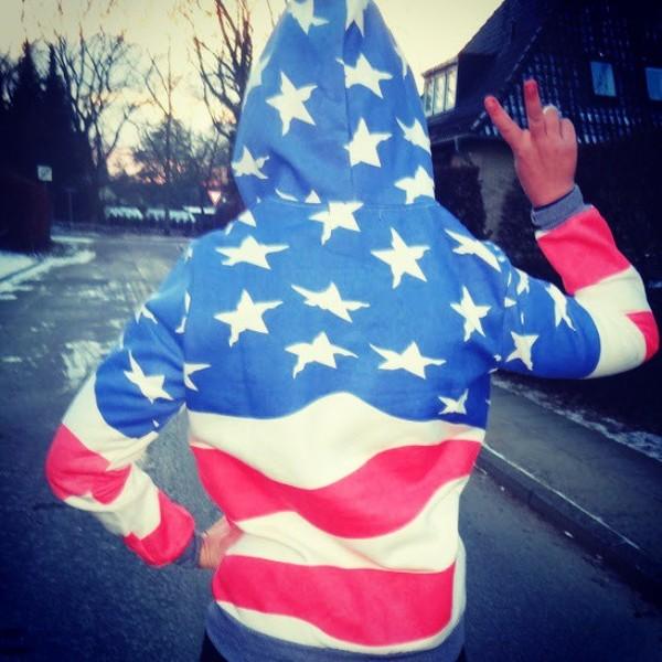shirt hoodie sweatshirt american flag