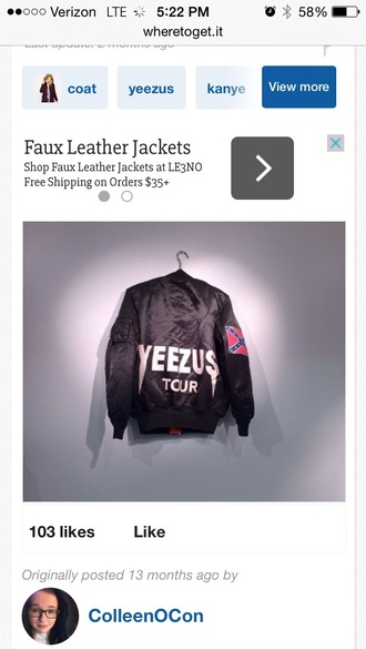 jacket yeezus tour jacket kanye west yeezus