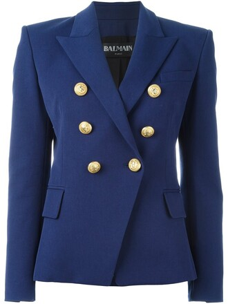 blazer double breasted blue jacket
