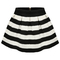 Black apricot stripe flare zip skirt -shein(sheinside)