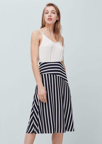 skirt striped skirt midi skirt