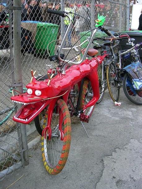 home accessory bike dragon chinese new year bike