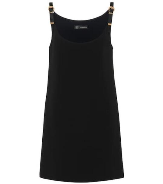 Versace Silk crêpe minidress in black