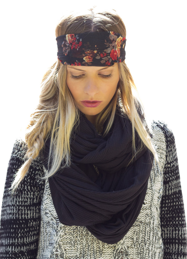 scarf infinity cowl neck jersey boho