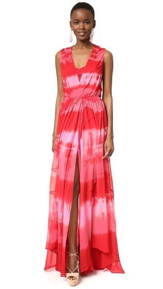 gown tie dye dress