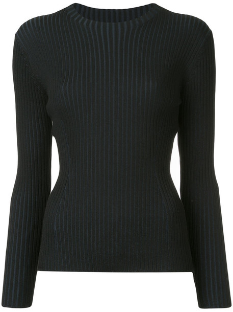 top women blue wool knit