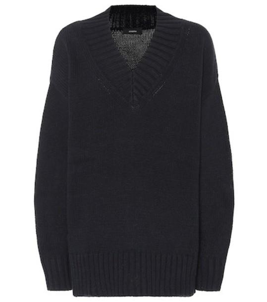 Joseph Cotton-blend sweater in blue
